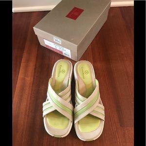 Cole Haan Nike Air Green & Tan Sandals